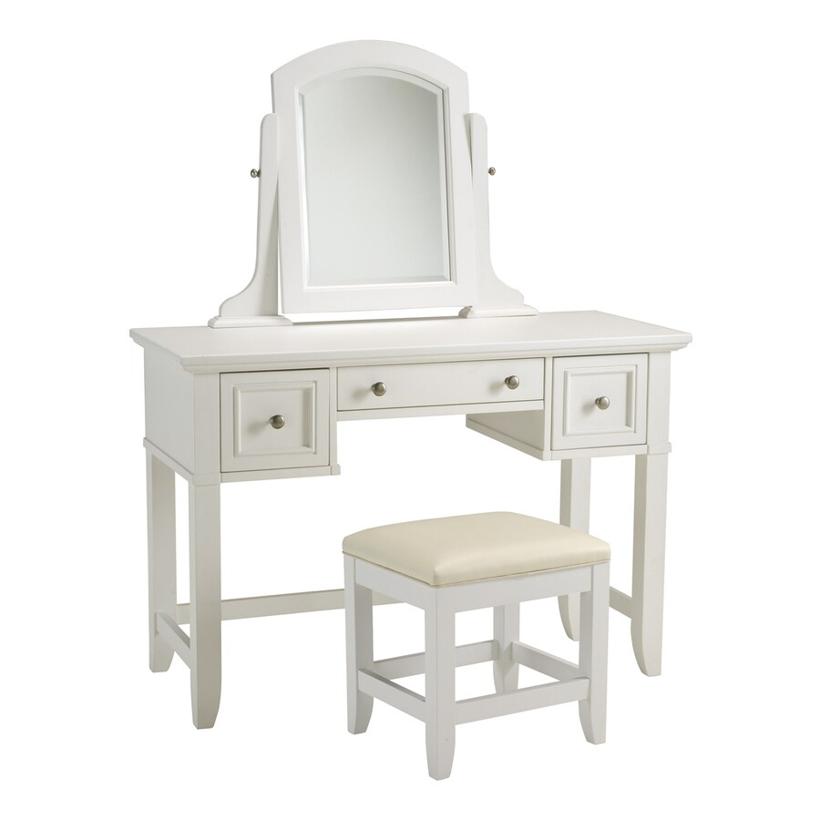 Shop Home Styles Naples White Makeup Vanity At Lowes.com