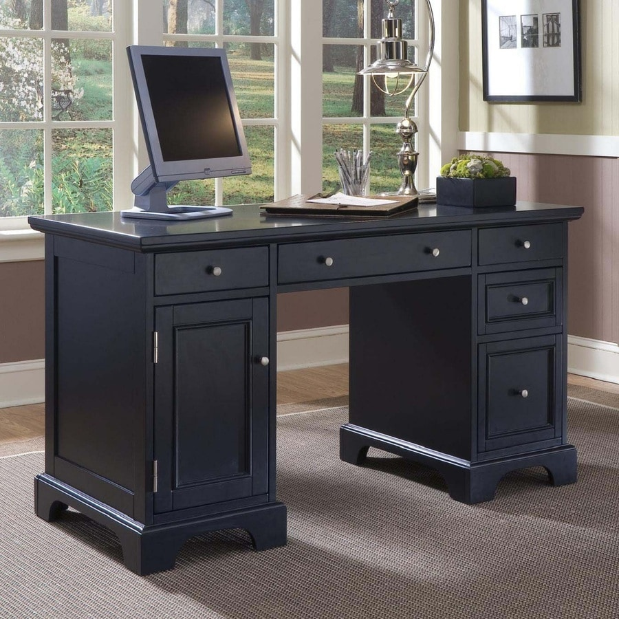 Shop Home Styles Bedford Black Computer Desk At Lowes Com