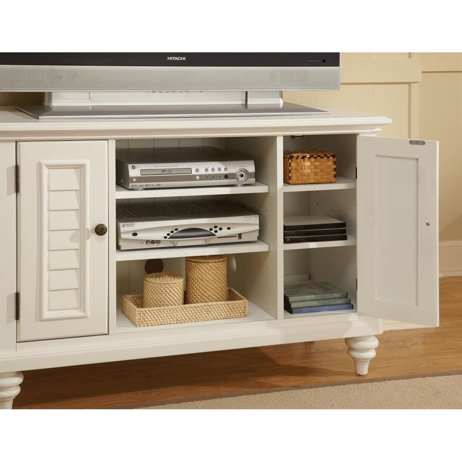 Home Styles Bermuda Brushed White Rectangular Television Cabinet