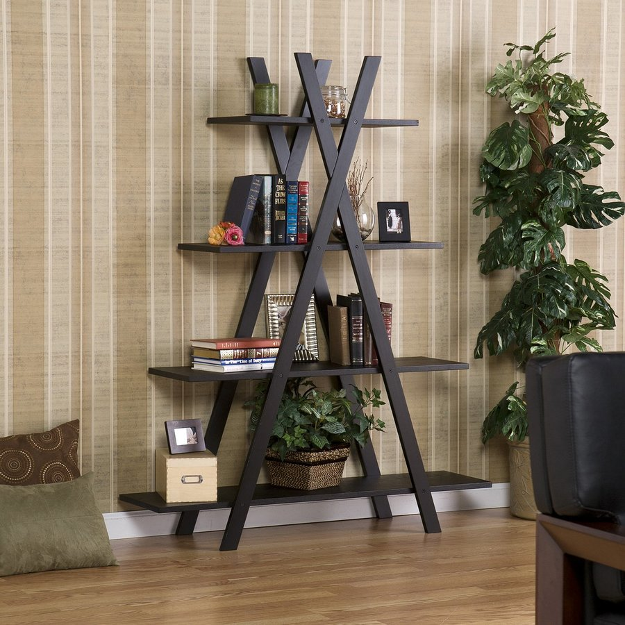 Boston Loft Furnishings 59-in H x 46-in W x 13-in D 4-Tier Composite Freestanding Shelving Unit