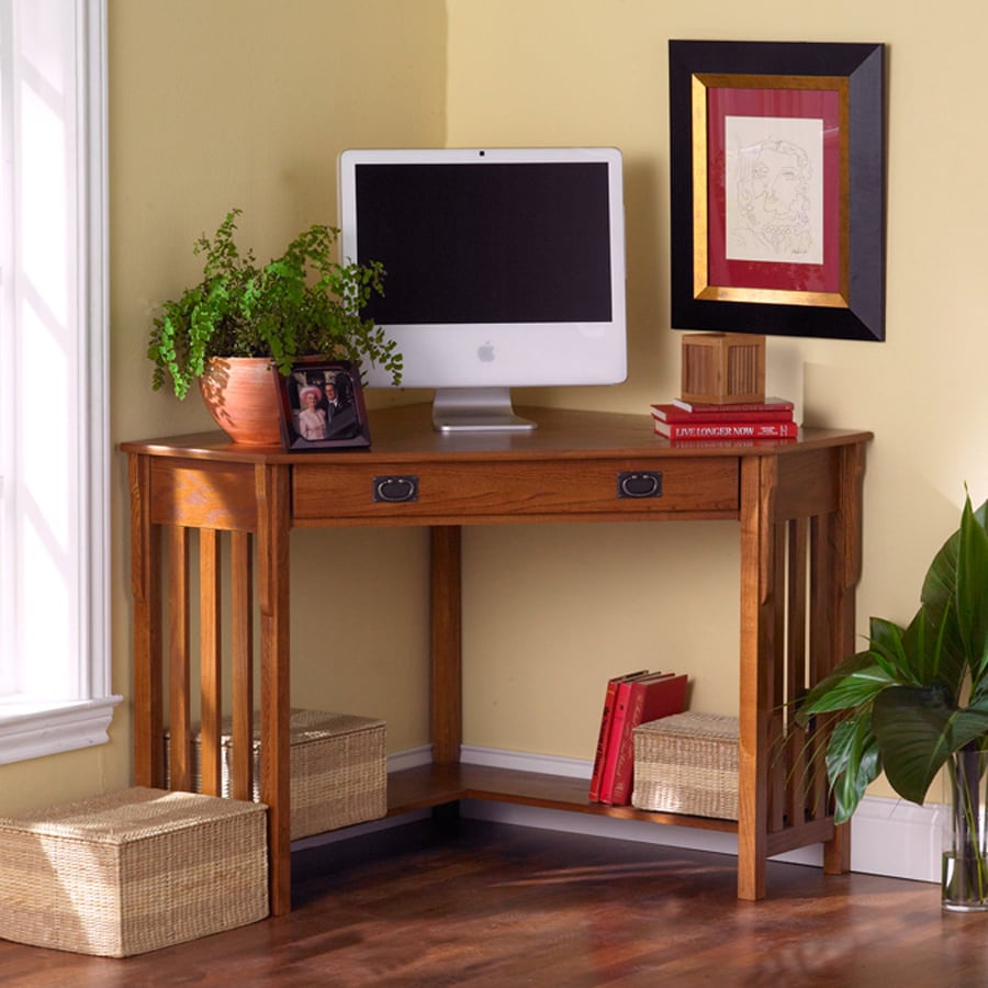 Boston Loft Furnishings Mission Oak Corner Desk