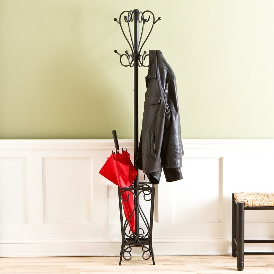 Boston Loft Furnishings Black 8-Hook Coat Stand