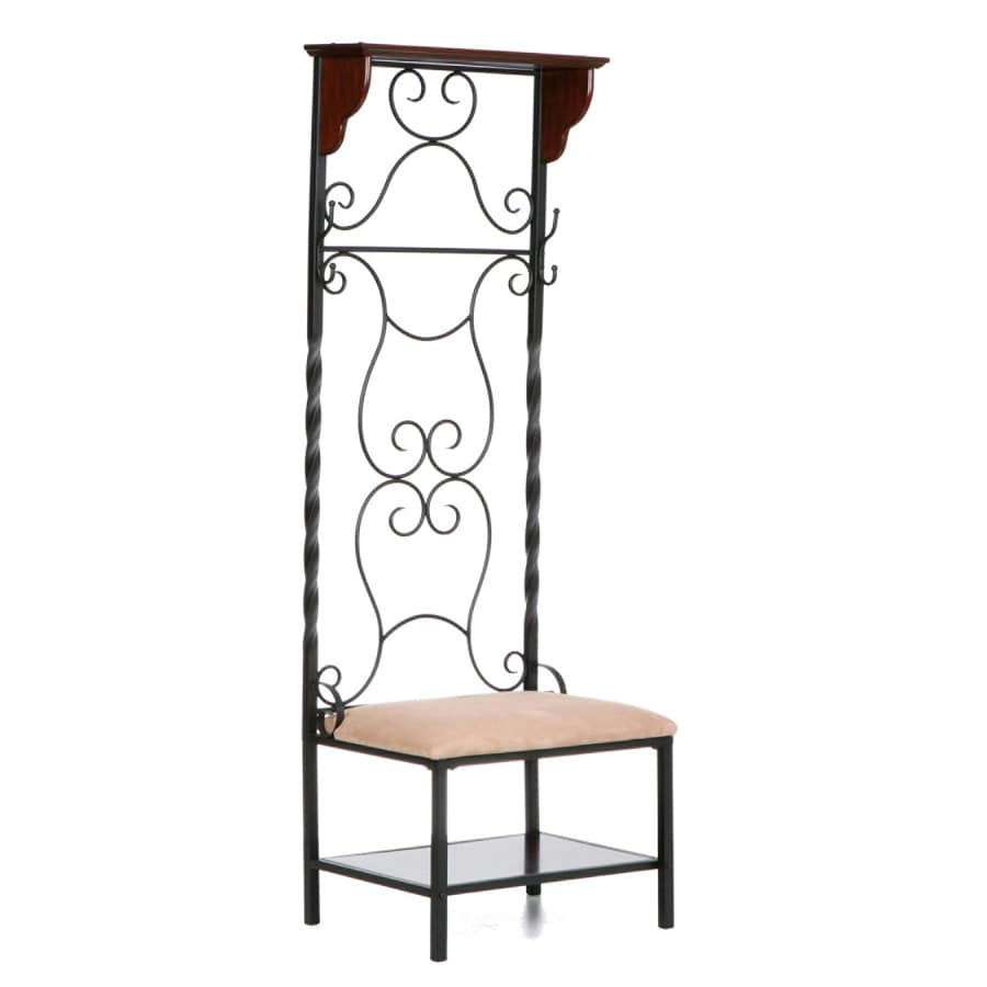 Southern Enterprises Martinique Espresso Stain 2-Hook Coat Stand