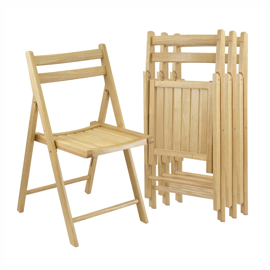 Winsome Wood Set of 4 Indoor Wood Folding Chair