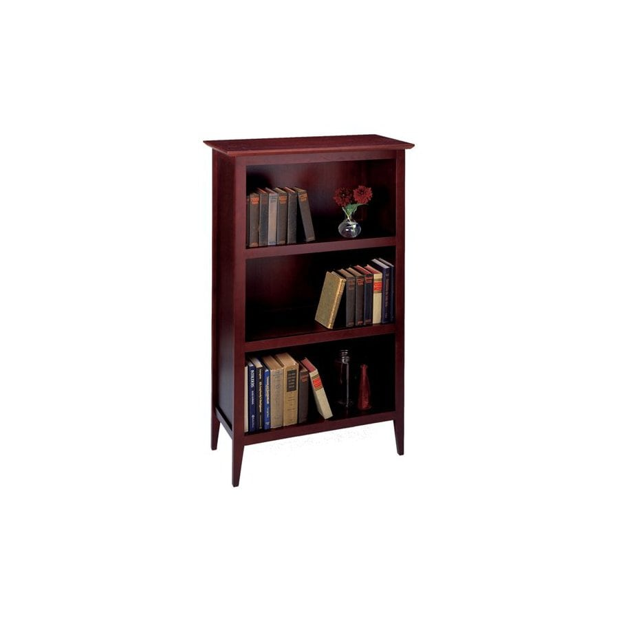 Winsome Wood Toscana Dark Espresso 48-in 3-Shelf Bookcase