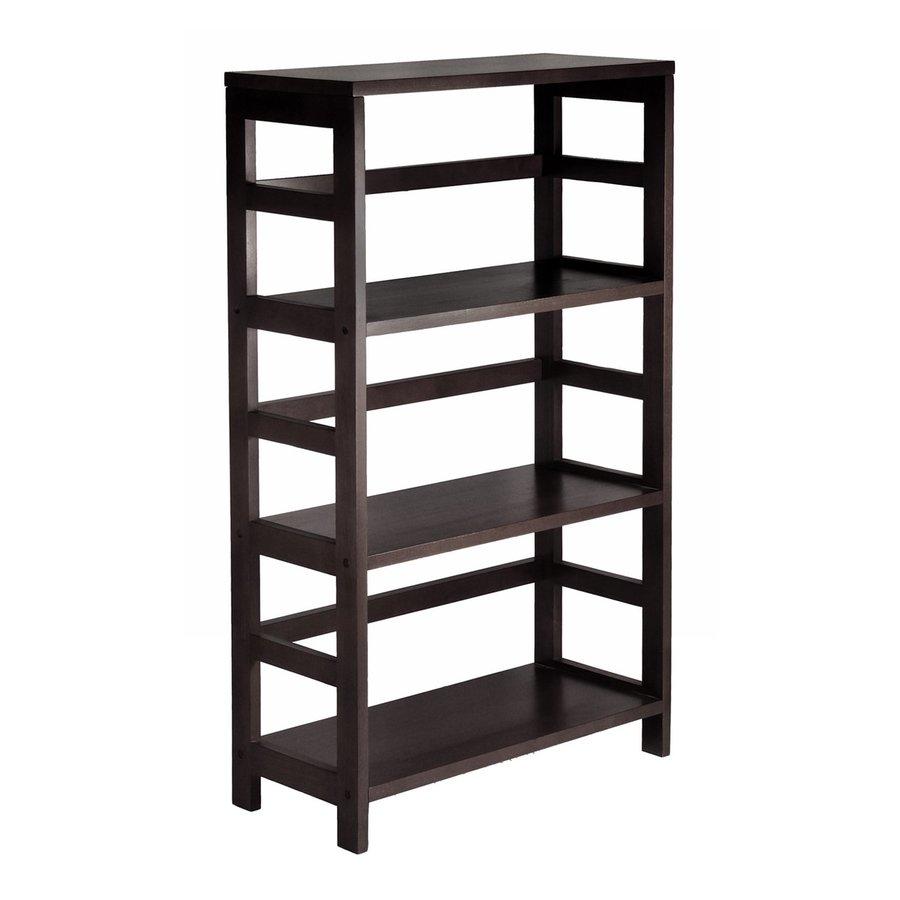 Winsome Wood Leo Dark Espresso 25.25-in W x 42-in H x 11.25-in D 3-Shelf Bookcase