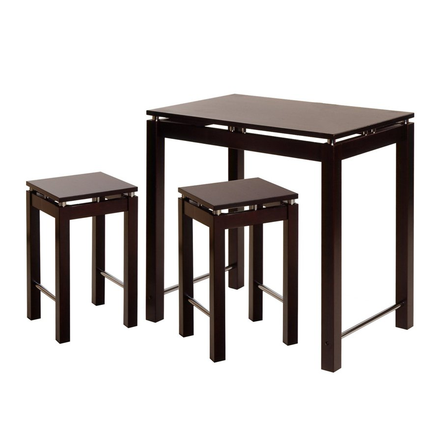 Winsome Wood Linea Espresso Dining Set with Rectangular Counter Table