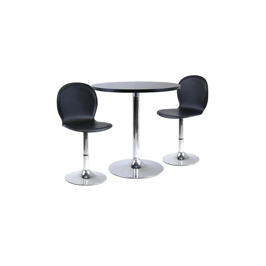 Winsome Wood Spectrum Black and Metal Dining Set