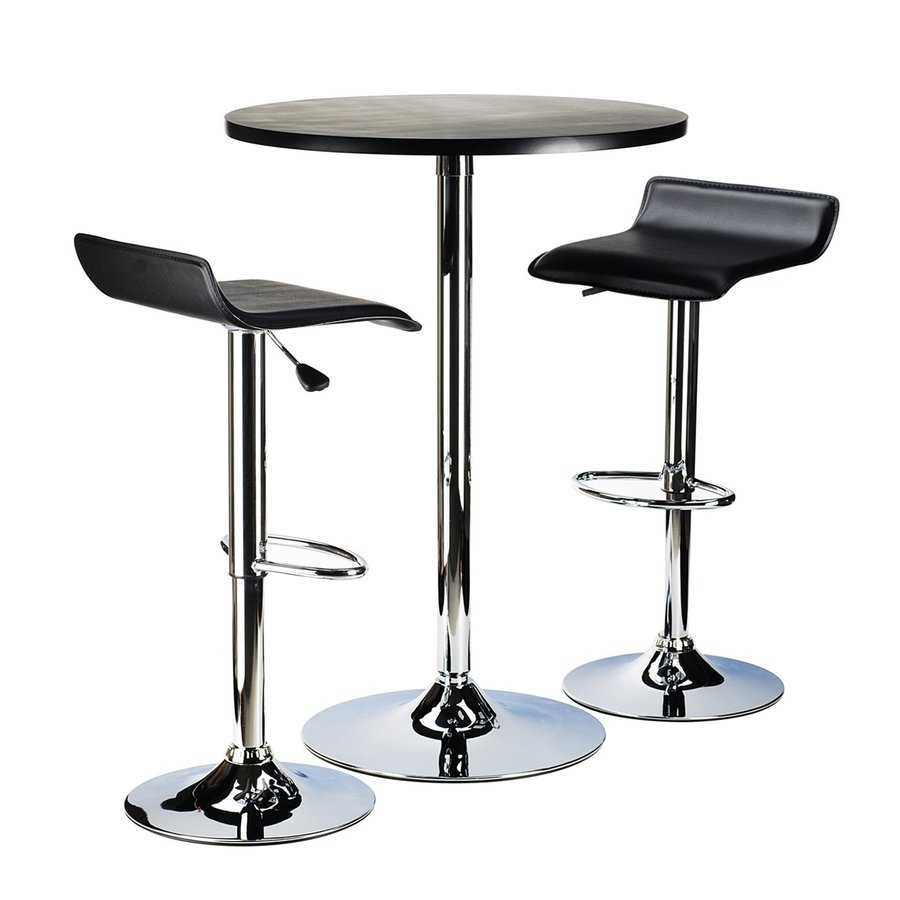 Winsome Wood Spectrum Black/Metal Dining Set with Round Table
