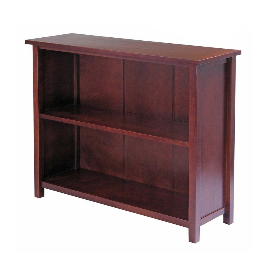 Winsome Wood Milan Antique Walnut 39-in W x 30-in H x 13-in D 2-Shelf Bookcase