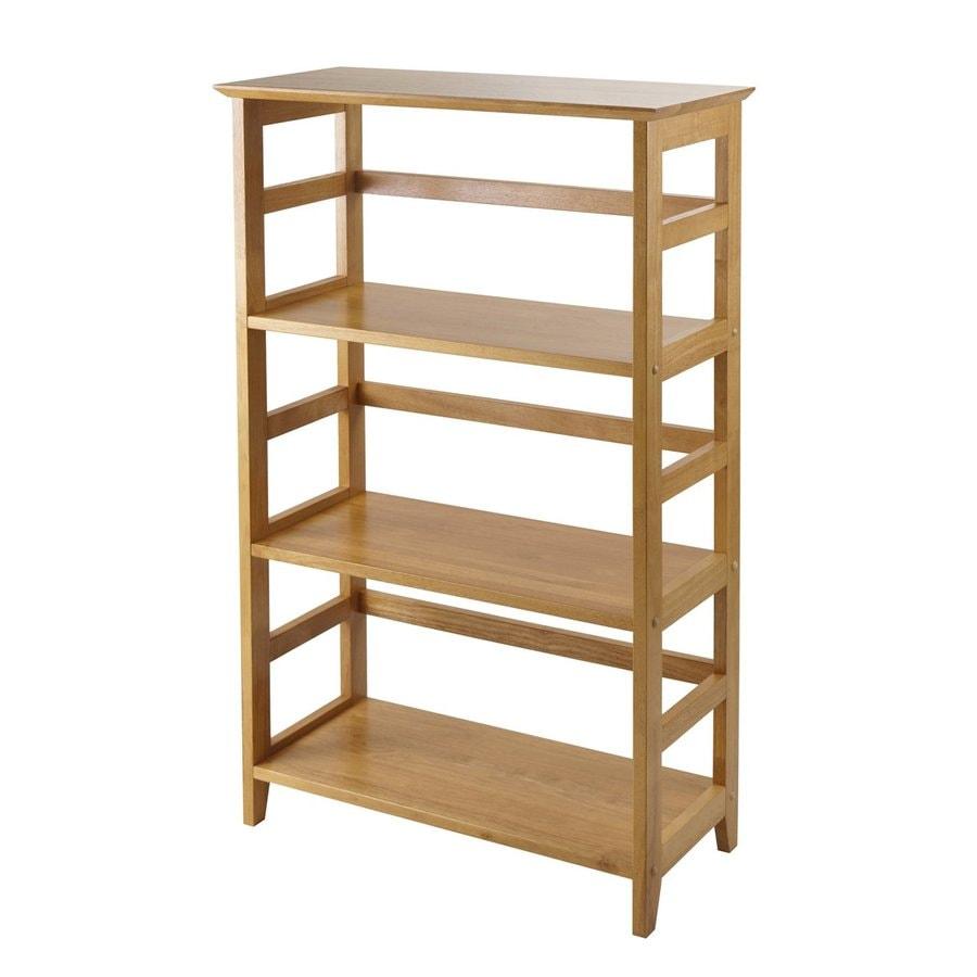Winsome Wood Studio Honey 26-in W x 42-in H x 12-in D 3-Shelf Bookcase