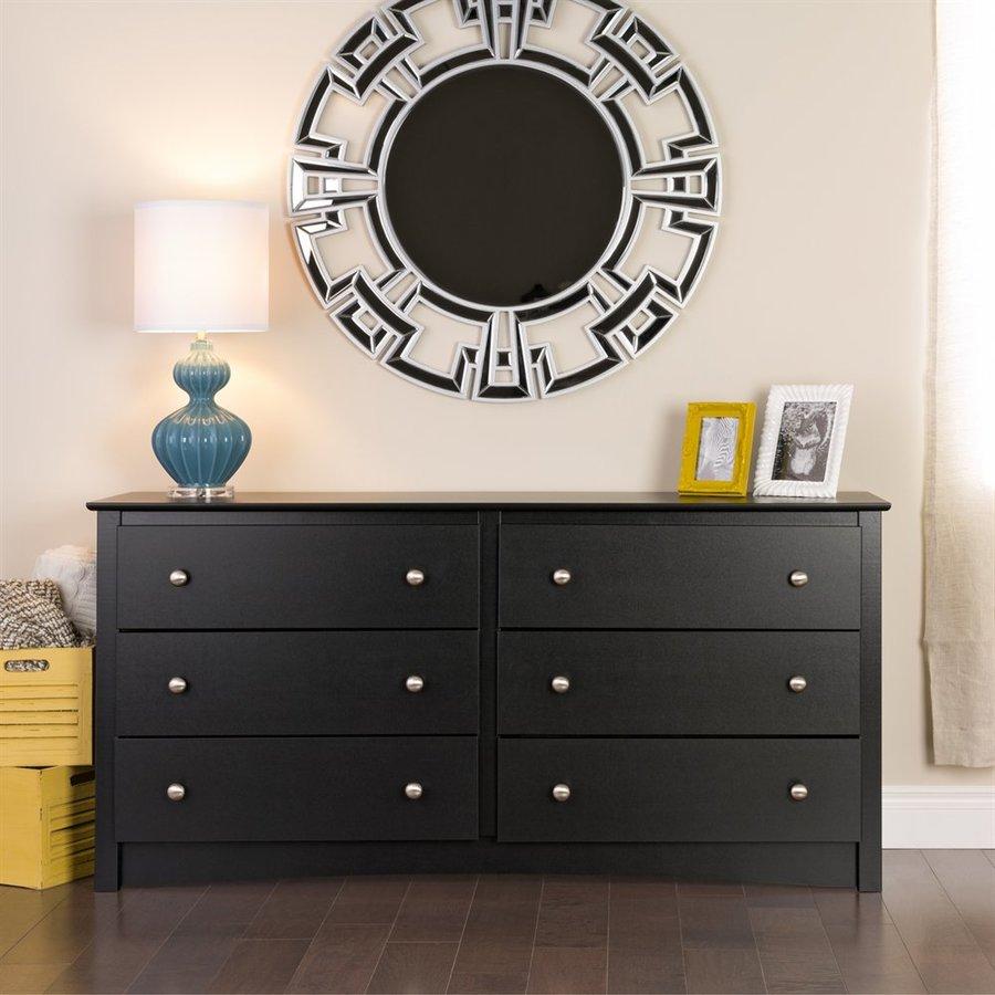 Prepac Furniture Sonoma Black 6-Drawer Dresser