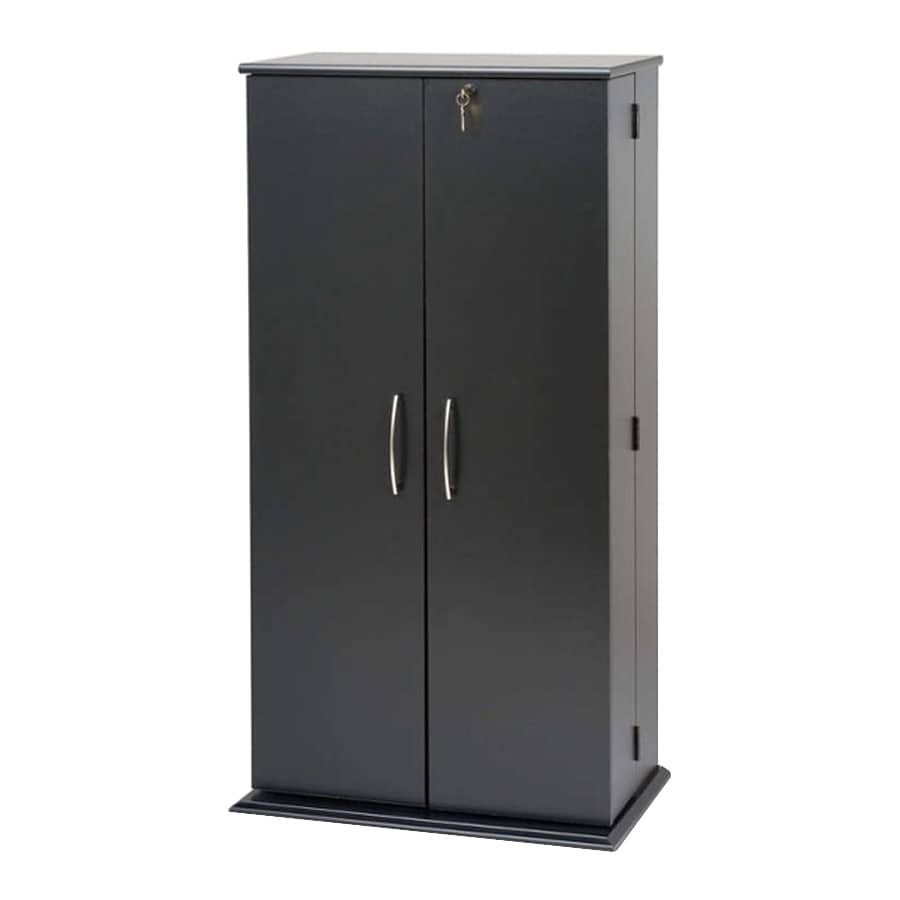 Prepac Furniture Black Multimedia Storage Unit