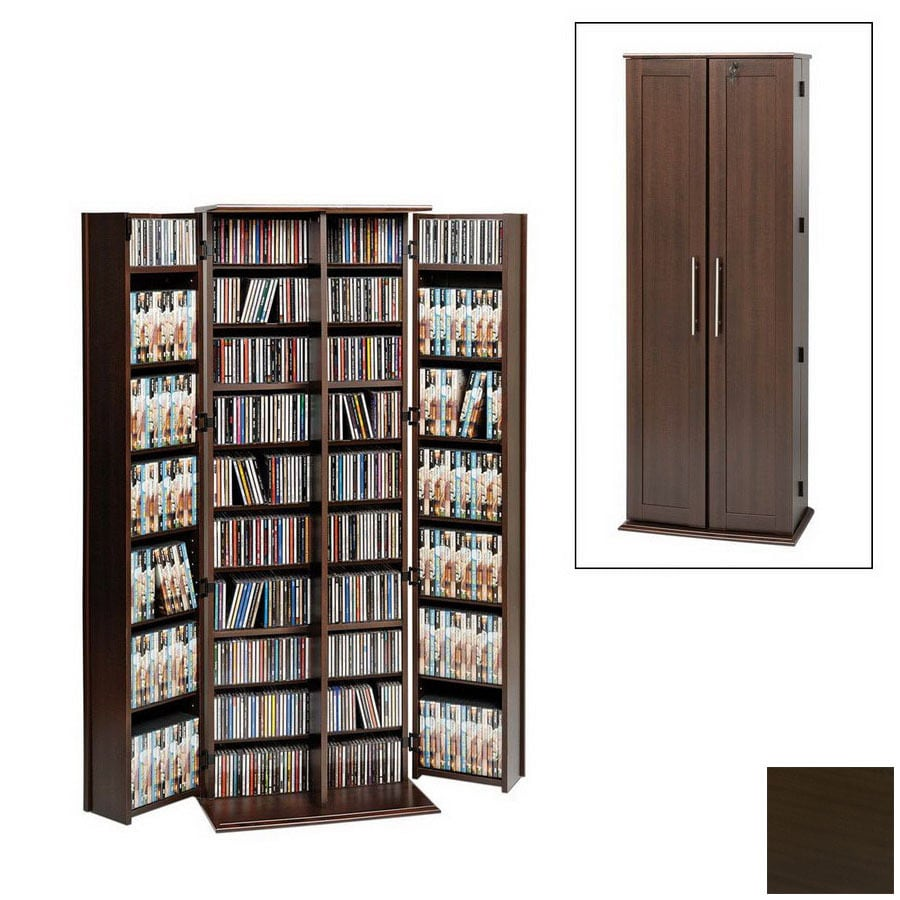 Prepac Furniture Espresso Multimedia Storage Unit