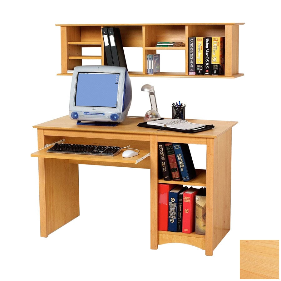 Shop prepac furniture maple computer desk at for Computer desk furniture