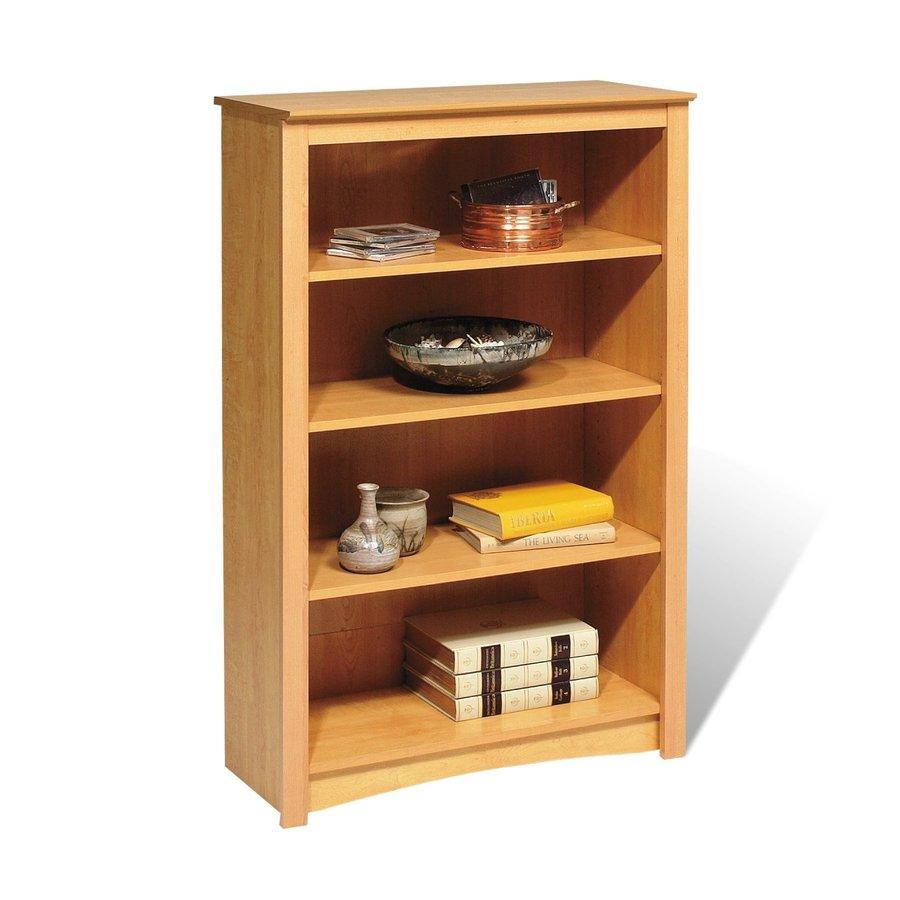 Prepac Furniture Maple 31.5-in W x 48-in H x 13-in D 4-Shelf Bookcase