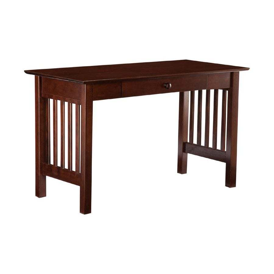 Shop Atlantic Furniture Mission Antique Walnut Writing