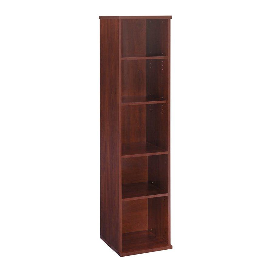 Bush Furniture Series C Hansen Cherry 17.84-in W x 72.83-in H x 15.35-in D 5-Shelf Bookcase