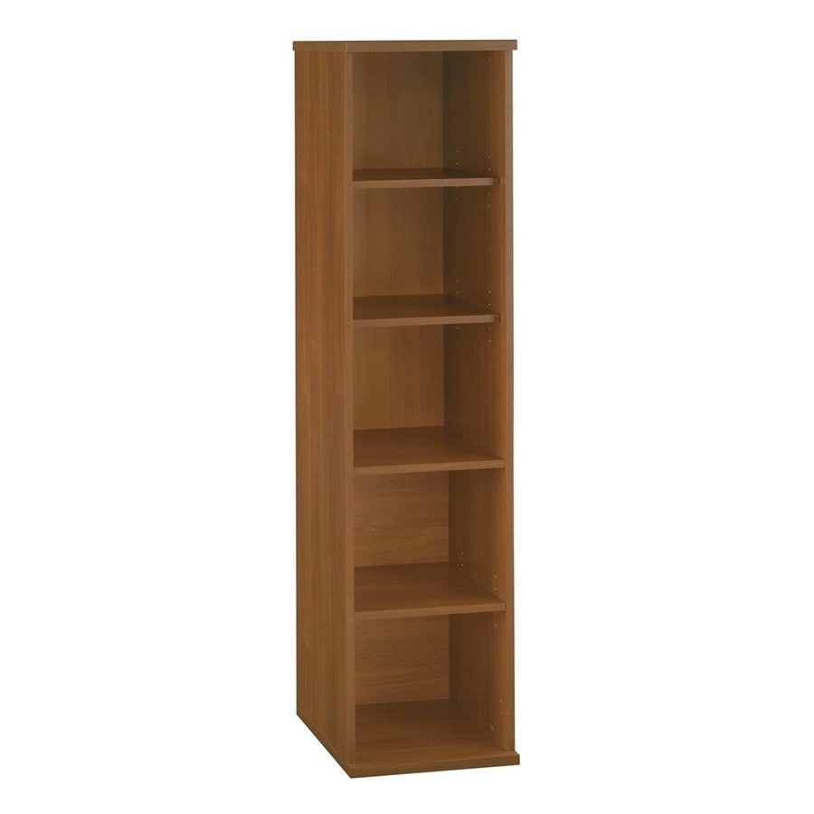 Bush Furniture Series C Warm Oak 17.84-in W x 72.83-in H x 15.35-in D 5-Shelf Bookcase