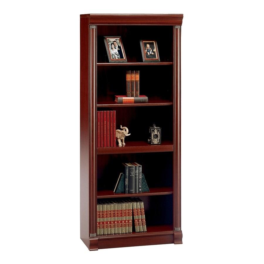 Bush Furniture Birmingham Executive Harvest Cherry 29.57-in W x 71.06-in H x 13.98-in D 5-Shelf Bookcase