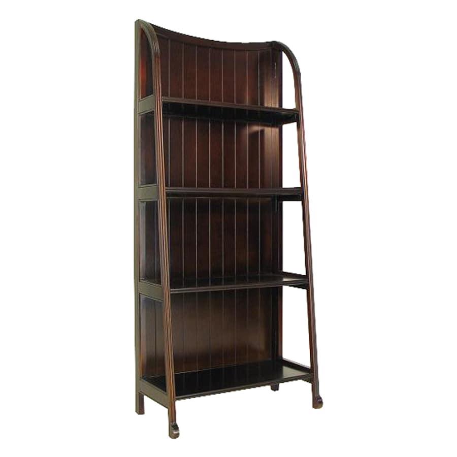 Wayborn Furniture Brown 26-in W x 60-in H x 13-in D 5-Shelf Bookcase