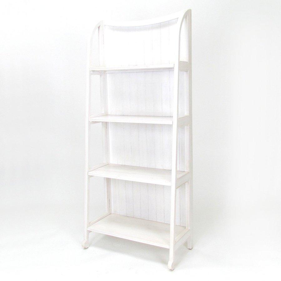 Wayborn Furniture Whitewash 26-in W x 60-in H x 13-in D 4-Shelf Bookcase