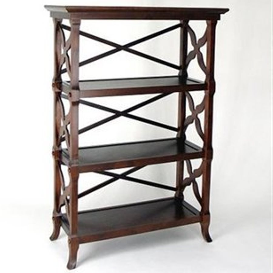 Wayborn Furniture Charter Brown 32-in W x 46.5-in H x 14-in D 3-Shelf Bookcase
