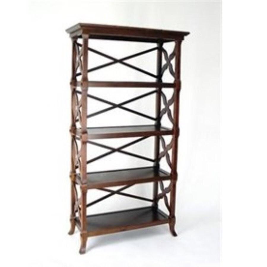 Wayborn Furniture Charter Brown 32-in W x 60-in H x 14-in D 4-Shelf Bookcase