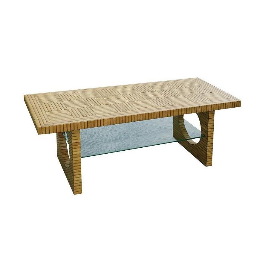 Wayborn Furniture Bamboo Brown Rectangular Television Cabinet