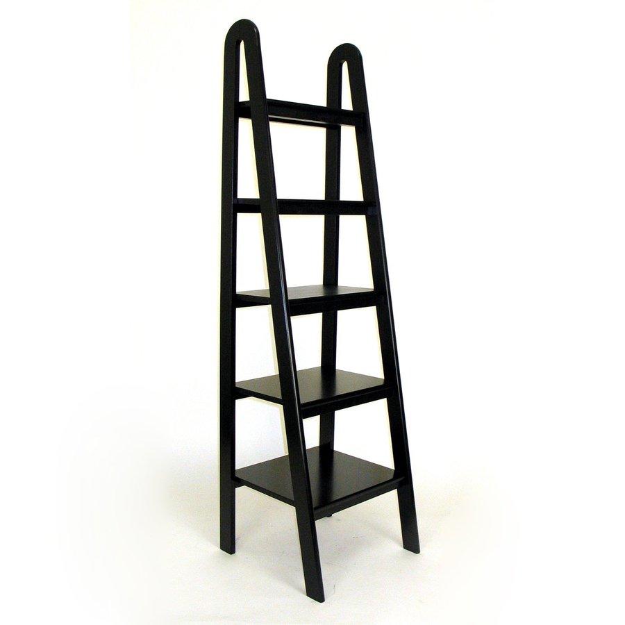 Wayborn Furniture Black 19-in W x 67.5-in H x 19-in D 5-Shelf Bookcase