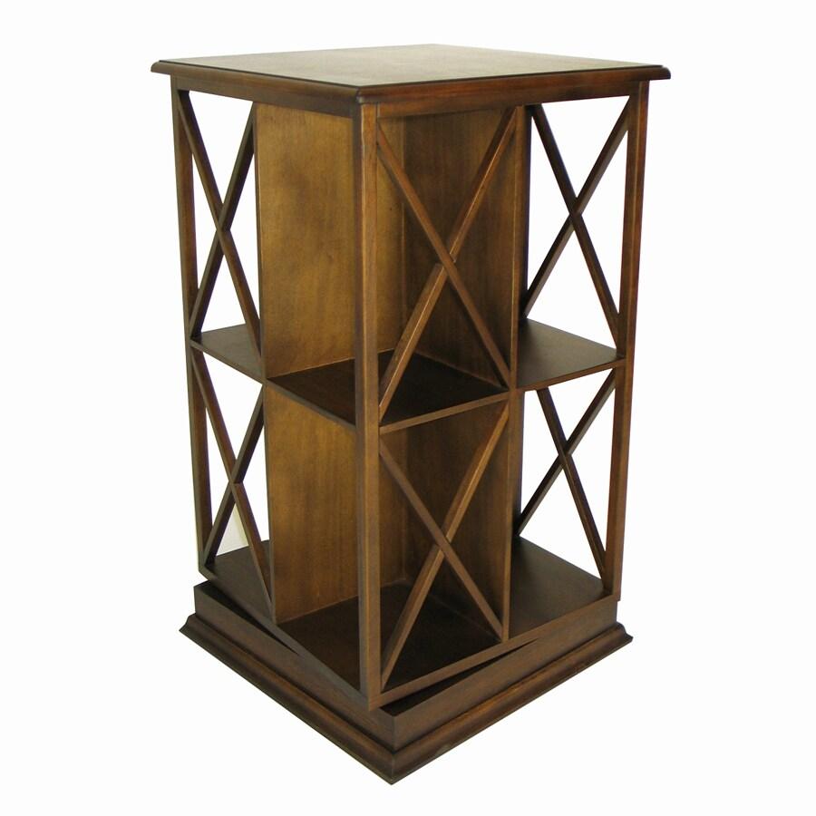 Wayborn Furniture Eiffel Brown 19-in W x 67.5-in H x 19-in D 5-Shelf Bookcase