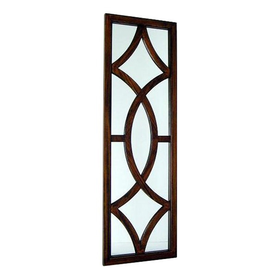 Wayborn Furniture Churchill 16-in x 50-in Brown Rectangle Framed Wall Mirror