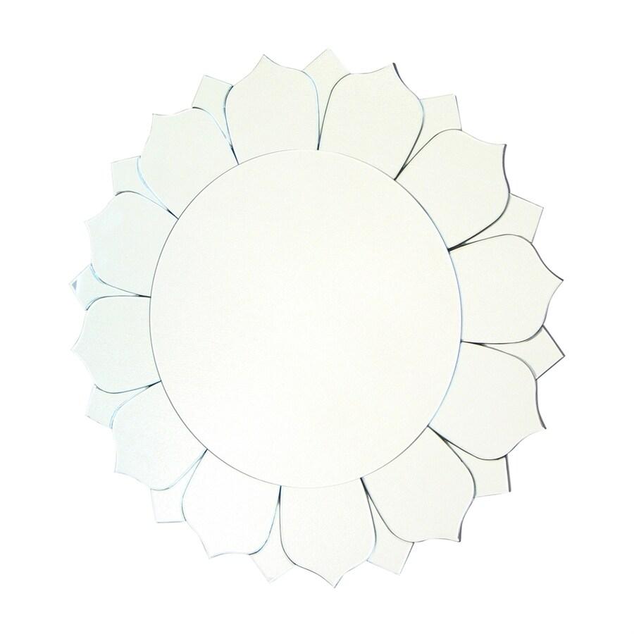 Wayborn Furniture Sunflower 31.5-in x 31.5-in Beveled Round Frameless Wall Mirror