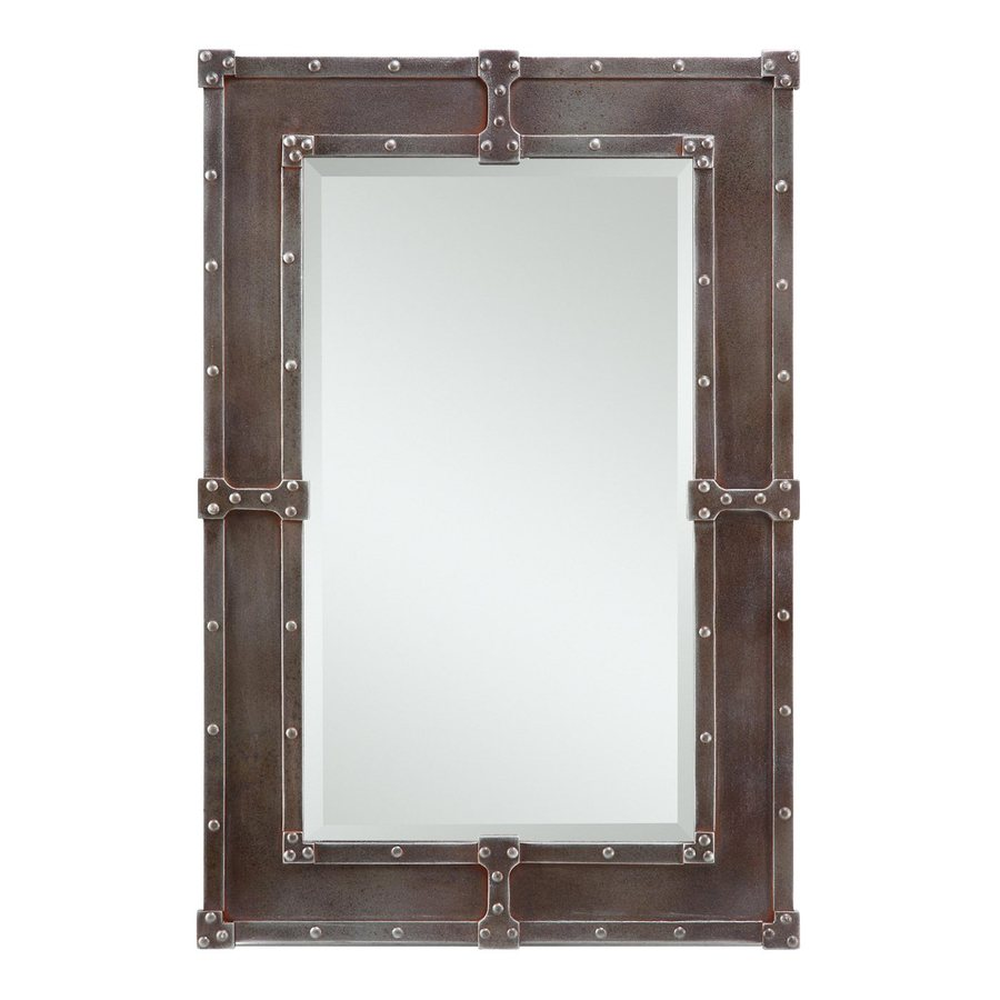 Cooper Classics Lamare 24-in x 35-in Copper Beveled Rectangle Framed Transitional Wall Mirror