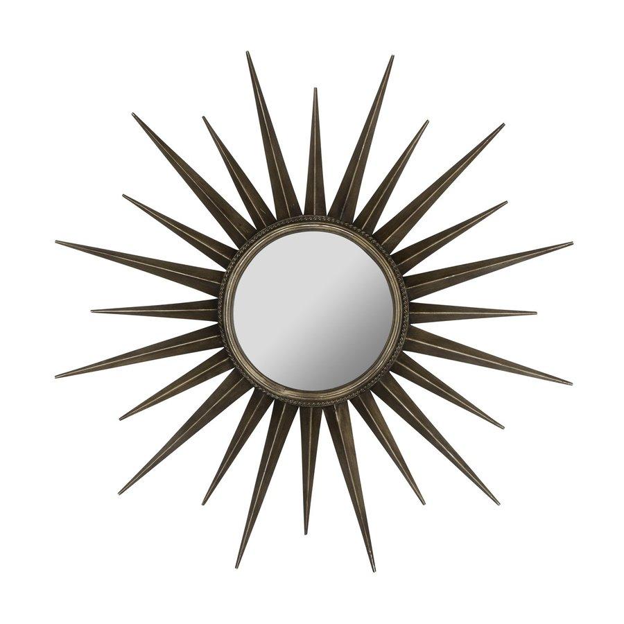 Cooper Classics Remi 39-in x 39-in Bronze Beveled Round Framed Sunburst Wall Mirror
