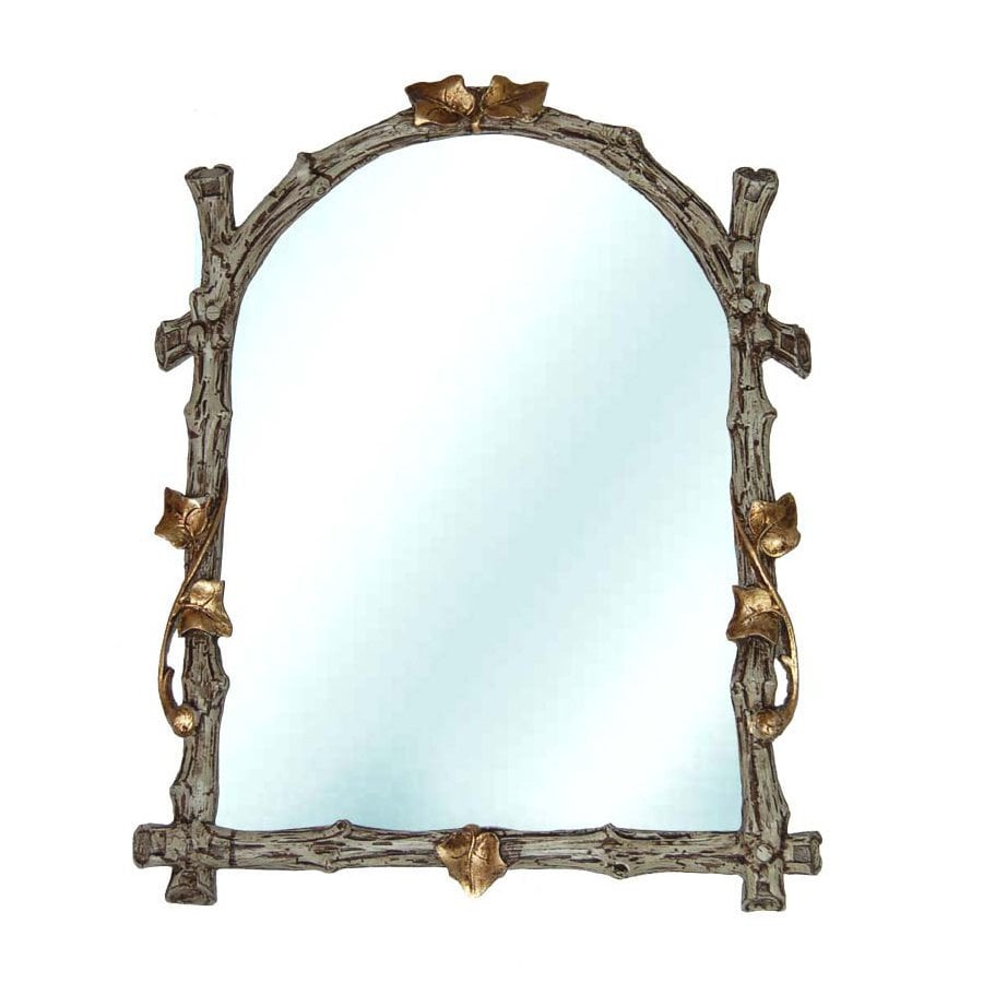 Hickory Manor House Twig 14.5-in x 19-in Verona Polished Arch Framed Wall Mirror
