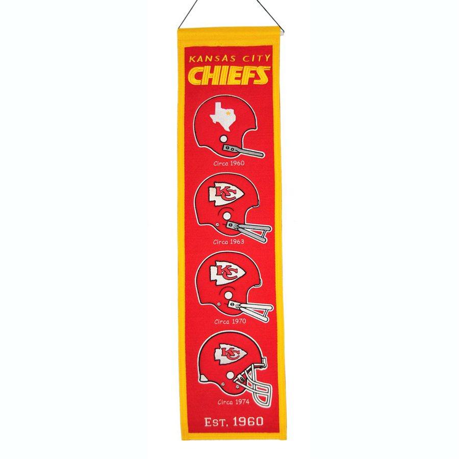 Winning Streak 2.67-ft W x 0.67-ft H Embroidered Kansas City Chiefs Banner