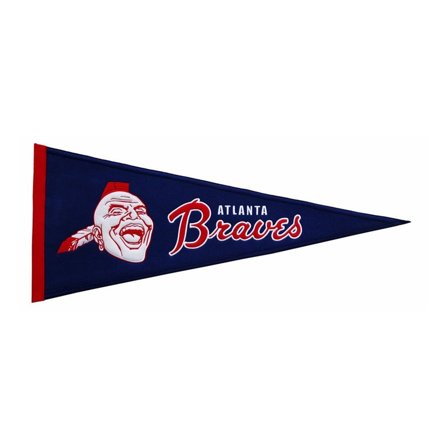 Winning Streak 2.67-ft W x 1.08-ft H Embroidered Atlanta Braves Pennant