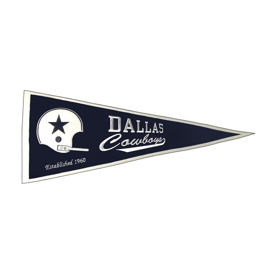 Winning Streak 2.67-ft W x 1.08-ft H Embroidered Dallas Cowboys Pennant
