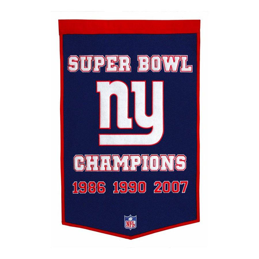 Winning Streak 2-ft W x 3-ft H Embroidered New York Giants Banner