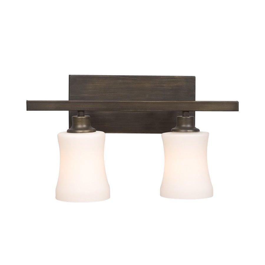 Shop galaxy 2 light delta oil rubbed bronze standard Bathroom vanity lights