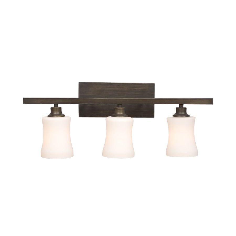 Shop galaxy 3 light delta oil rubbed bronze standard - Bathroom lighting oil rubbed bronze ...