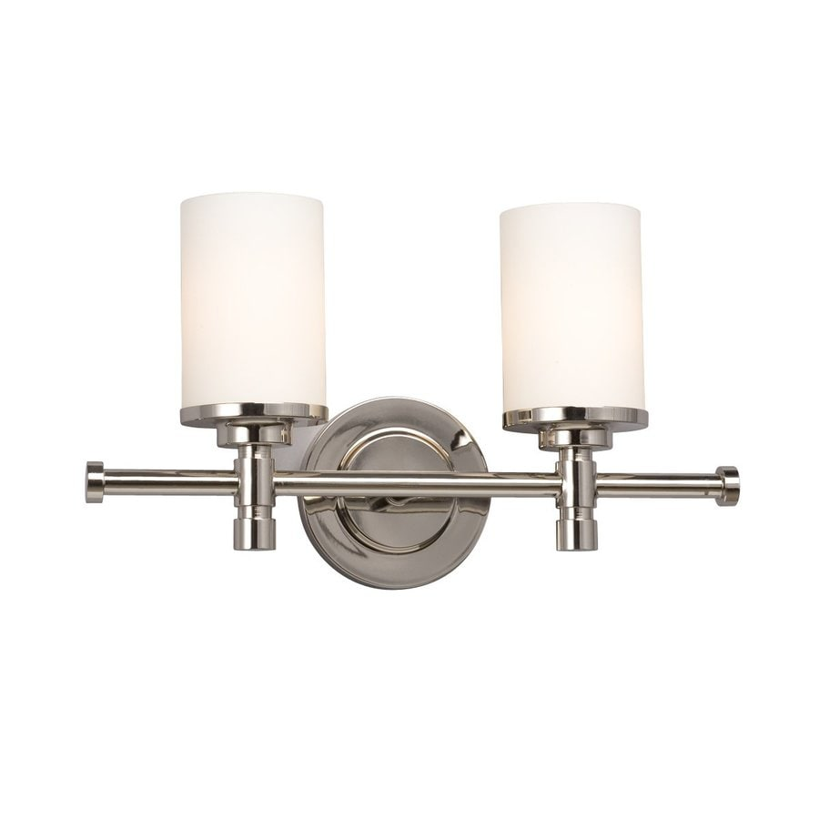 Shop Galaxy 2 Light Brighton Chrome Standard Bathroom Vanity Light At