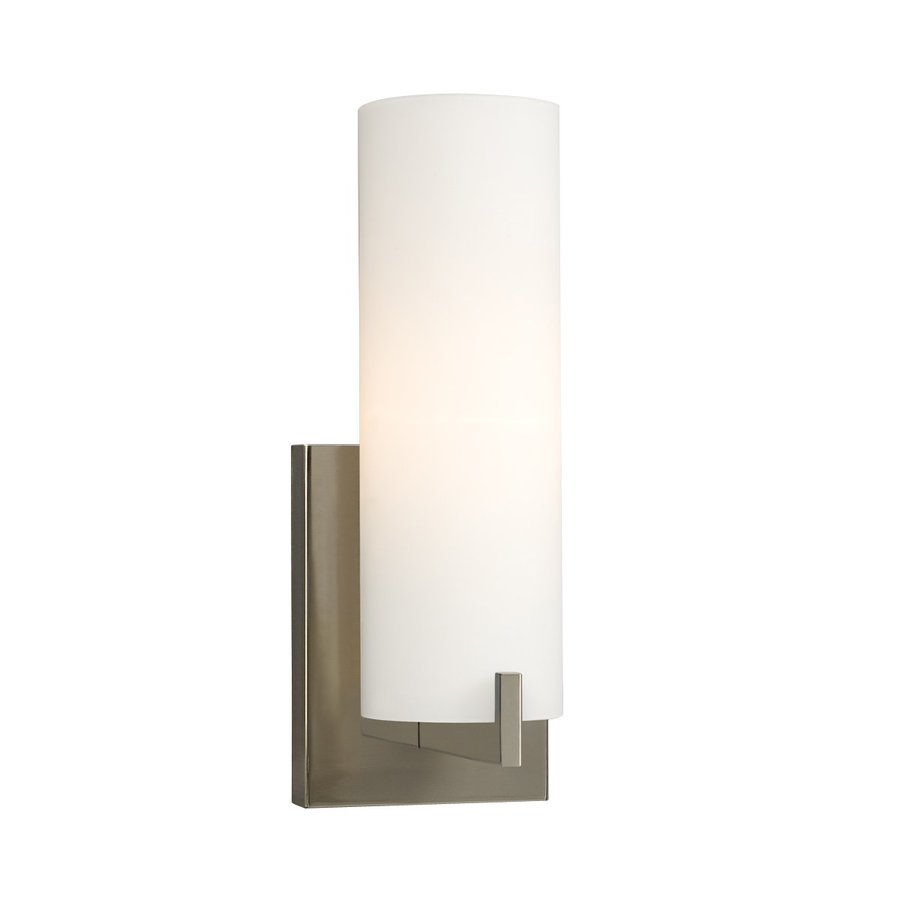 Galaxy 1-Light Kona Brushed Nickel Standard Bathroom Vanity Light