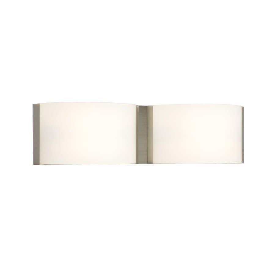 Galaxy 2-Light Triton Brushed Nickel Standard Bathroom Vanity Light
