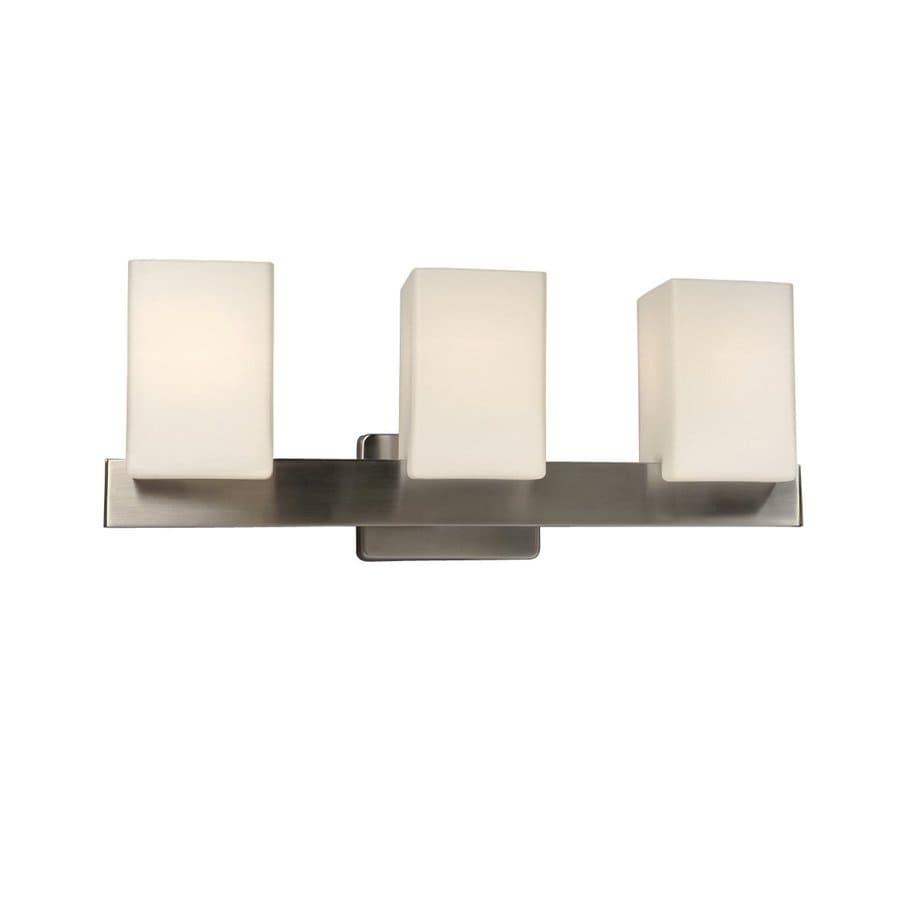 Galaxy 3-Light Newport Brushed Nickel Standard Bathroom Vanity Light