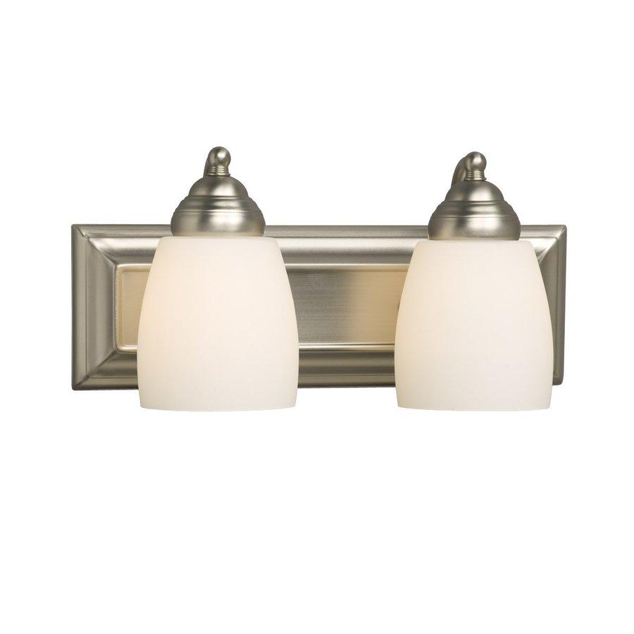 Galaxy 2-Light Barclay Brushed Nickel Standard Bathroom Vanity Light