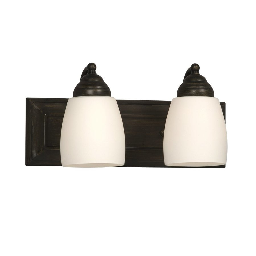 Shop galaxy 2 light barclay oil rubbed bronze standard - Bathroom lighting oil rubbed bronze ...