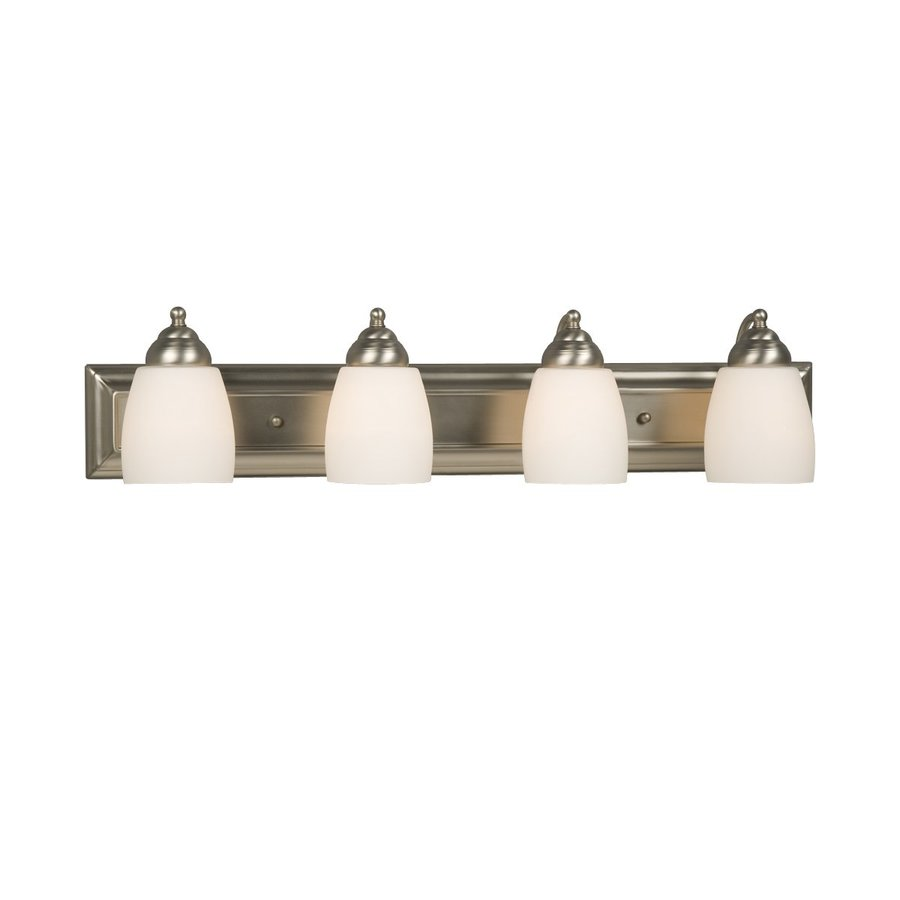 light barclay brushed nickel standard bathroom vanity light at lowes. Black Bedroom Furniture Sets. Home Design Ideas