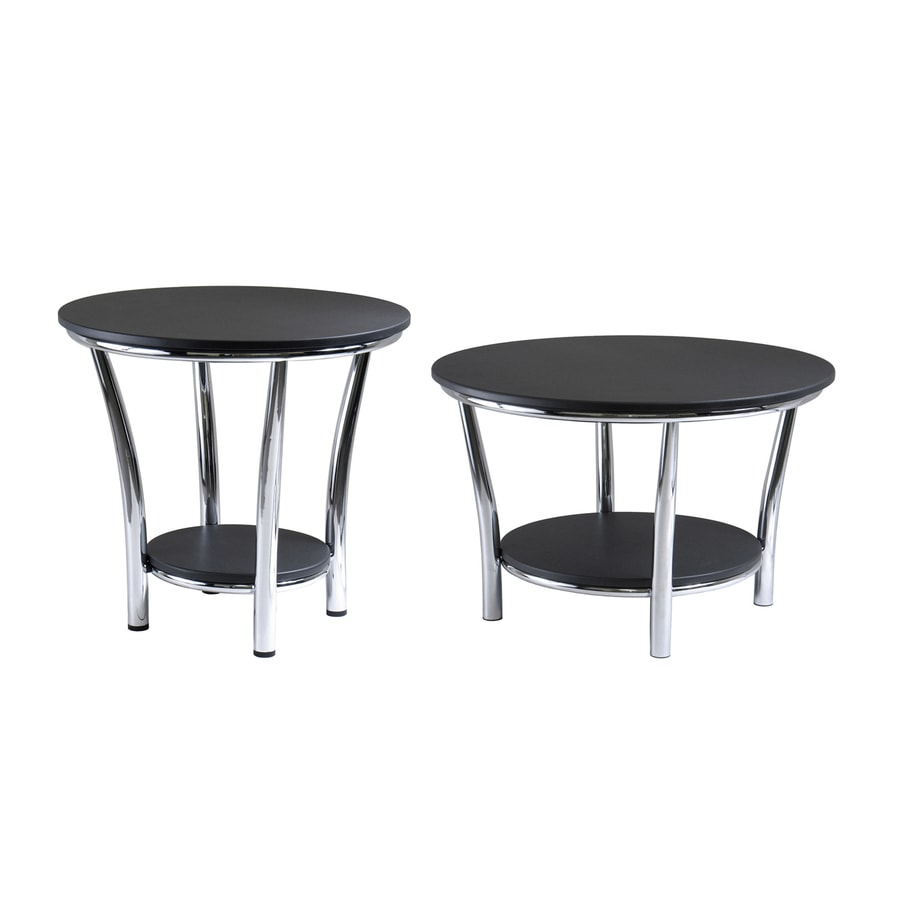 Winsome Wood Maya Black Accent Table Set